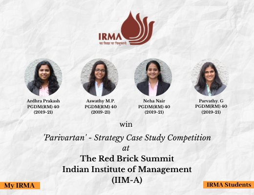 PGDM(RM) 40 participants win strategy case study competition by IIM Ahmedabad