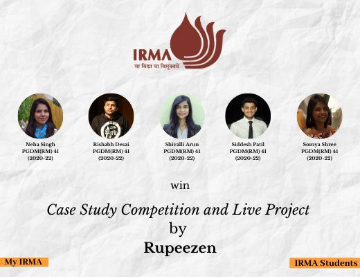 PGDM(RM) 41 participants win case study competition and live project
