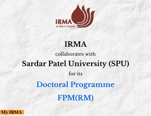 IRMA collaborates with SPU for its Doctoral Programme