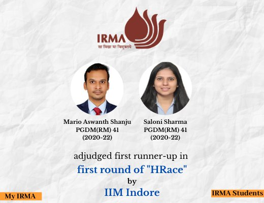 PGDM(RM) 41 participants adjudged first runner-up in competition by IIM Indore