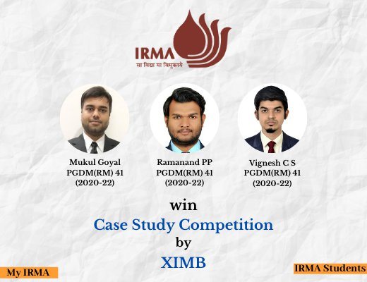 PGDM(RM) 41 participants win case study competition by XIMB