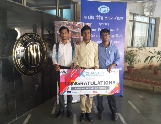 IRMA students win first prize at Chausar '19, Indian Institute of Foreign Trade (IIFT)